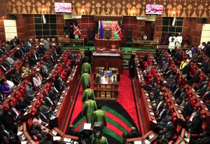 Kenyan MPs at a past session of parliament. Corruption scandals involving MPs have shocked Kenyans given that they are some of the best remunerated elected representatives in the world. (Photo/http://uchaguzi.co.ke)