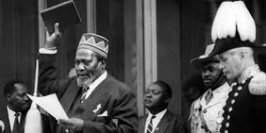 jomo kenyatta taking oath of office
