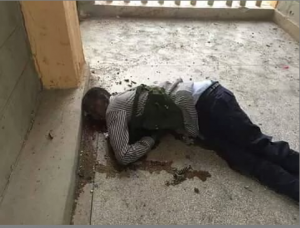 A photo of one the Al Shabaab attackers responsible for Thursday's attack on Garissa University College. A former schoolmate of the attacker has identified him as Abdirahim Mohamed , a former student at the University of Nairobi's Faculty of Law. (Photo/ Twitter)
