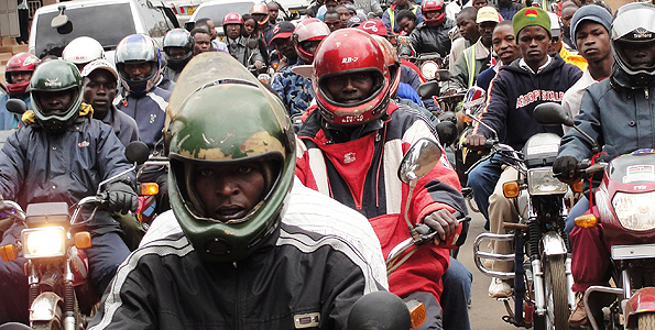 Boda Bodas have helped many of Kenya's unemployed to make ends meet but now some are using them to commit crimes(Photo/ictfire.com)