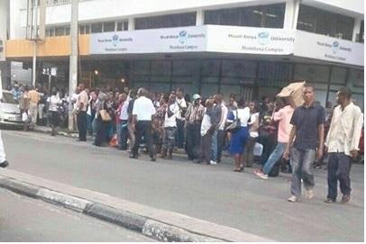 Scene of Bomb Scare Mombasa (facebook/Neel Ak)