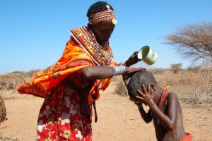 Water is a scarce commodity in Marsabit County. Photo courtesy of blog.cafod.org.uk
