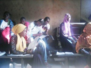 Participants during the workshop on youth and democracy in Kwale County.