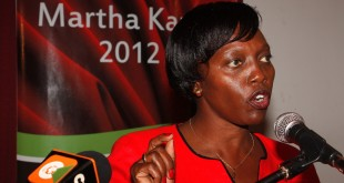 Narc Kenya leader Martha KArua. SHe has been implicated in a corruption scandal at BAT. [Photo: ongozakenya.wordpress.com]