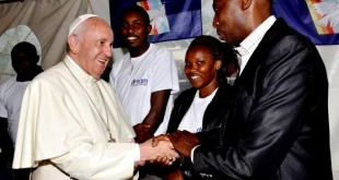 Waithaka with Pope