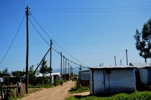 The camp was connected to the power grid late year through a government programming of lighting up rural areas (Photo: Kioko Kivandi).